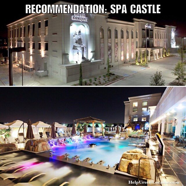 """If you've never been we highly recommend Spa Castle in Carrolton. It's about a 15 minute drive from Dallas but it's worth it. Indoor and outdoor pools swim-up bar countless saunas and the food is amazing too.  Don't forget to put down """"Help Urself Leasing"""" when filling out ur lease application to get back 50% of the commission we earn from ur referral. Check out our website for details.  #leasing #rental #realestate #apartmentlocator #apartments #dallas #uptown #downtown #westvillage…"""
