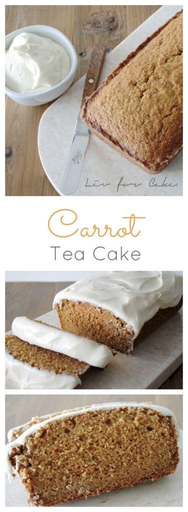 Carrot Tea Cake | livforcake.com