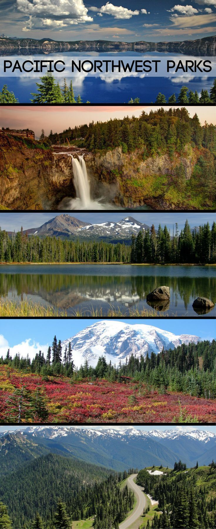 Mountains, rainforests, beaches, and more in the Pacific Northwest!