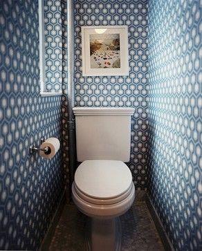 blue  white powder room