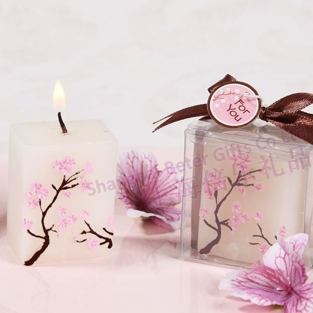 127 best candle party favors images on pinterest party favors cherryblossom minicandle candlefavors cherry blossom candles baby shower party souvenirs candle sciox Images