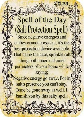 Magick Spells:  #Salt #Protection #Spell.