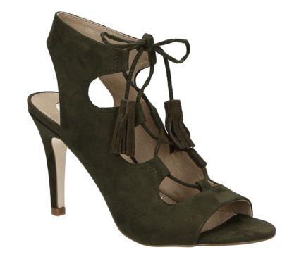 La Strada 935933 groene sandalen met hak