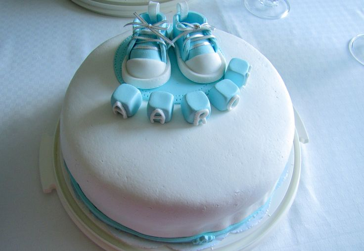 #cake #baby #boy #shoes #christening