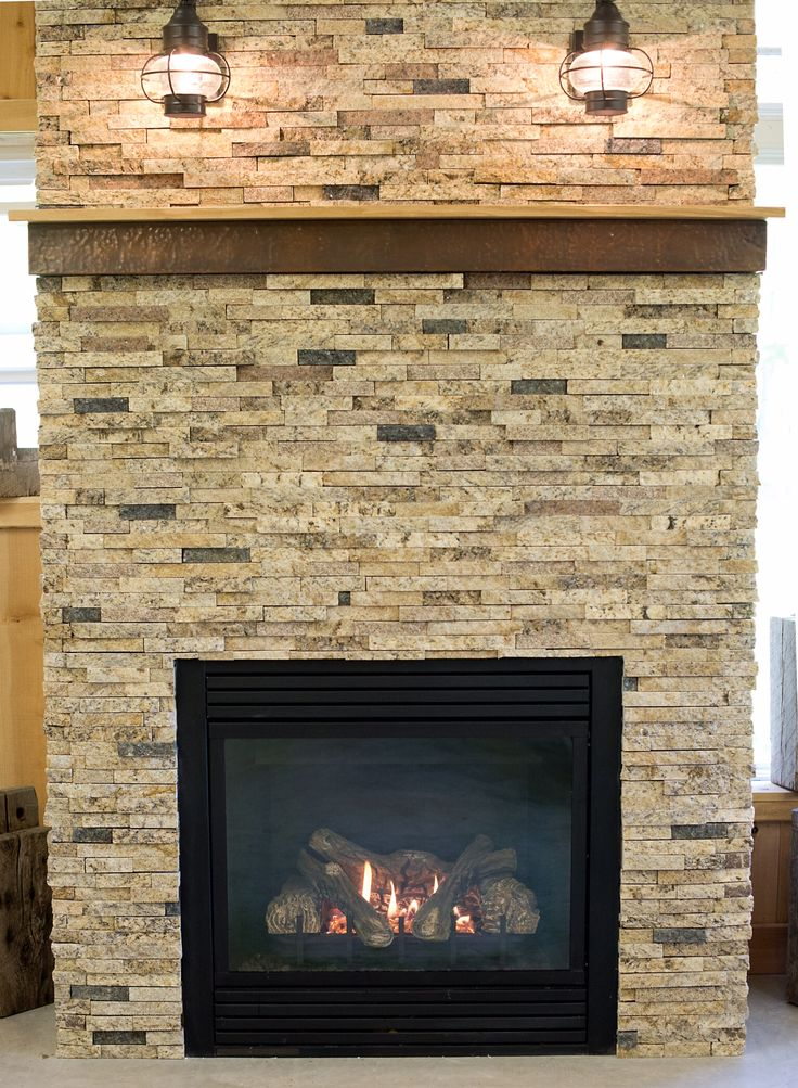 Love This Prairie Style Fireplace. The Split Stone Tiles In Shades Of Sand,  Soft