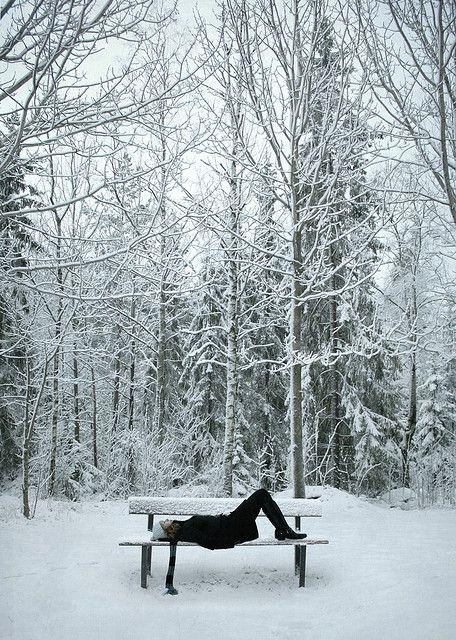 snow gazing