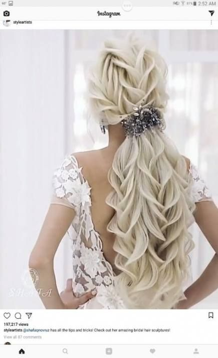 Hair Prom Long Pony Tails 29+  Ideas #hair