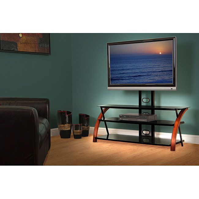 Media Stand - Avista Titan Brown Wide TV Stand with Multi Purpose Mounting  System