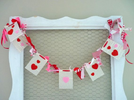 Valentine's Day Garland by CountryChiq on Etsy