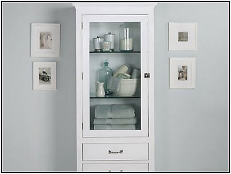 White Wall Mounted Bathroom Cabinet