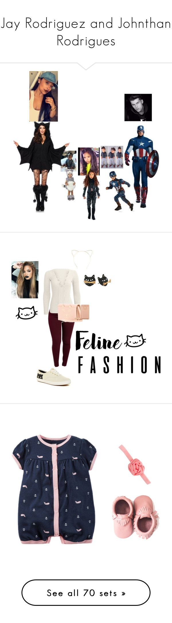 """""""Jay Rodriguez and Johnthan Rodrigues"""" by seleste2 ❤ liked on Polyvore featuring Charlotte Olympia, Keds, Betsey Johnson, Gap, Nautica, The Children's Place, French Toast, George, Puma and AMIRI"""
