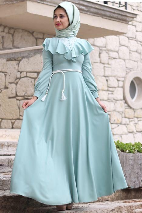 Minel Aşk Mint Matmazel Elbise