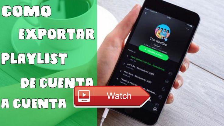 Exporta tus playlist de una cuenta de spotify a otra  Hola amigos hoy les traigo este video complementandolos videos de spotify premium por 7 dias si te gusto dale like