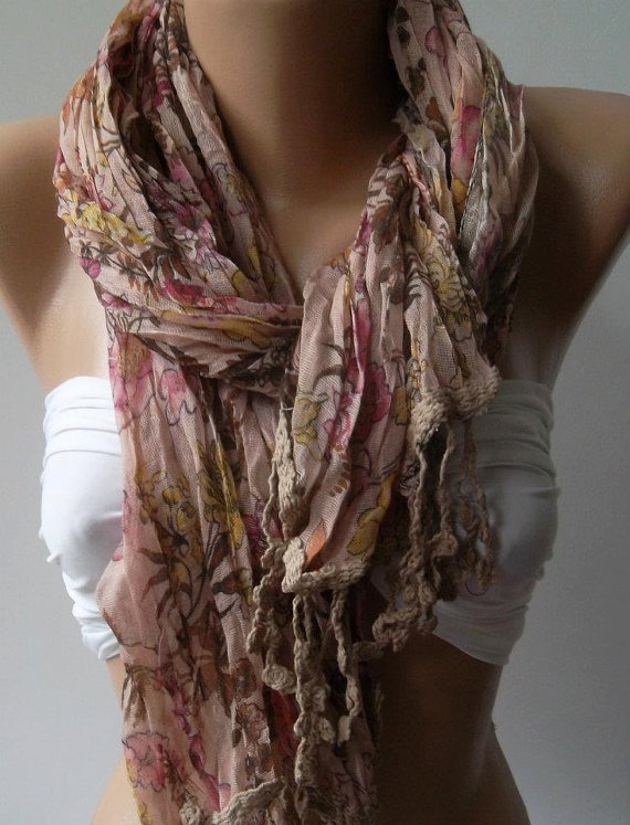 Soft Flowers  --  Elegance Shawl / Scarf,,,Accessories Jewelry, Elegant Shawl, Fashion Forward, Scarves Lov, Elegant Scarf, 19 90, Fashion Styl, Flower Elegant, Soft Flower