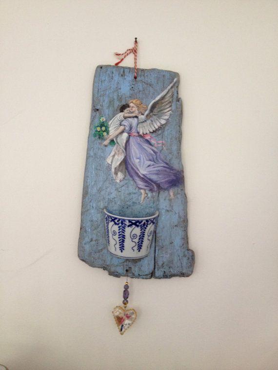 Handgeschilderd katholiek drijfhout kunst olieverf schilderij