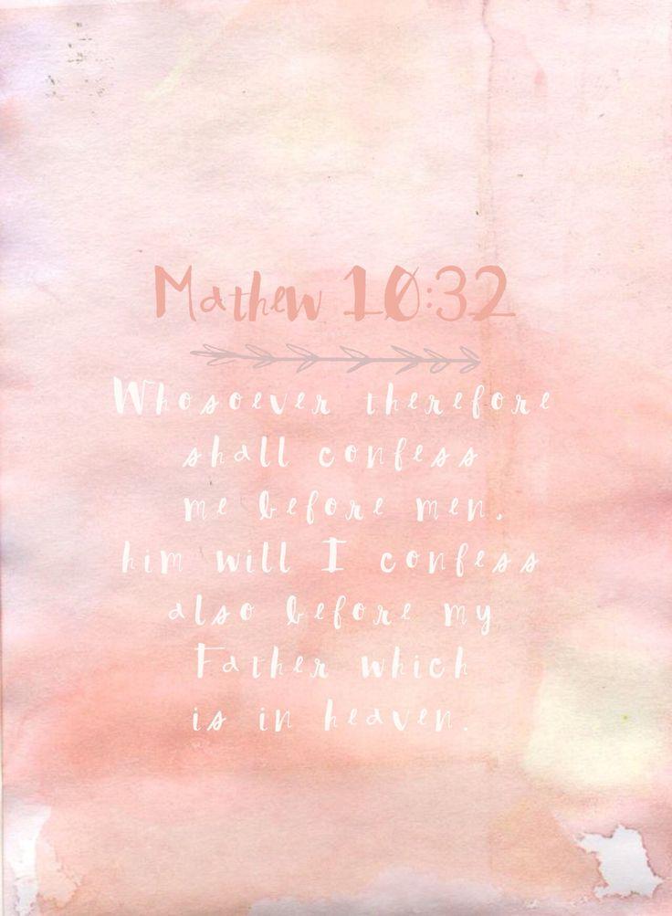 Mathew 10:32 Weekly Ponderizing Scripture; Scripture Screen Saver