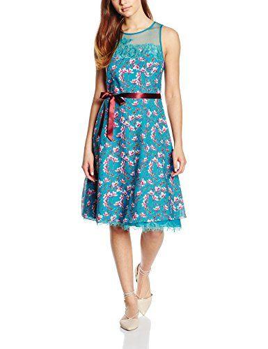 Almost Famous Damen Kleid Painted Floral Chiffon Dress