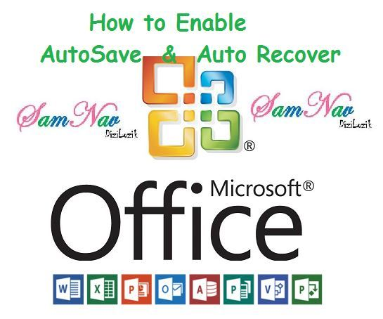 This tutorial shows your SIMPLE WAY to enable AutoSave and Autorecover in Microsoft Office VERSIONS 2010, 2013. Word, Excel, PowerPoint, MS Publisher, Visio, Porject