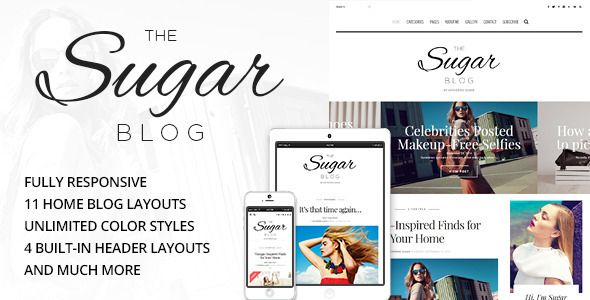 SugarBlog - Clean & Personal WordPress Blog Theme