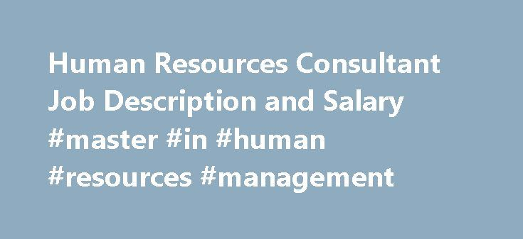 hr consultant job description pdf
