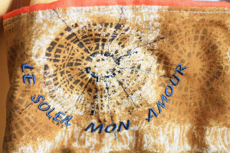 artistic bag PROVENCE, patchwork, embroidered: LE SOLEIL MON AMOUR
