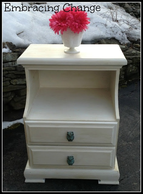Sweet Little Night Stand Redo {With Owls}