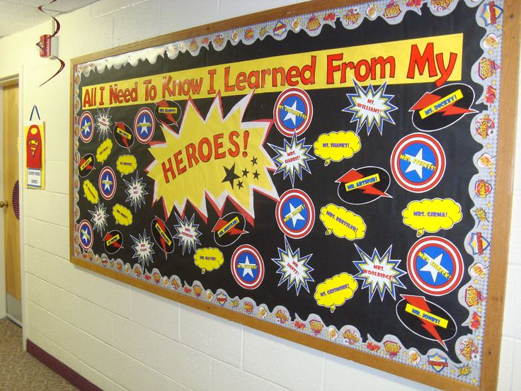 Classroom Wall Decoration Set ~ Superhero bulletin board teacher appreciation