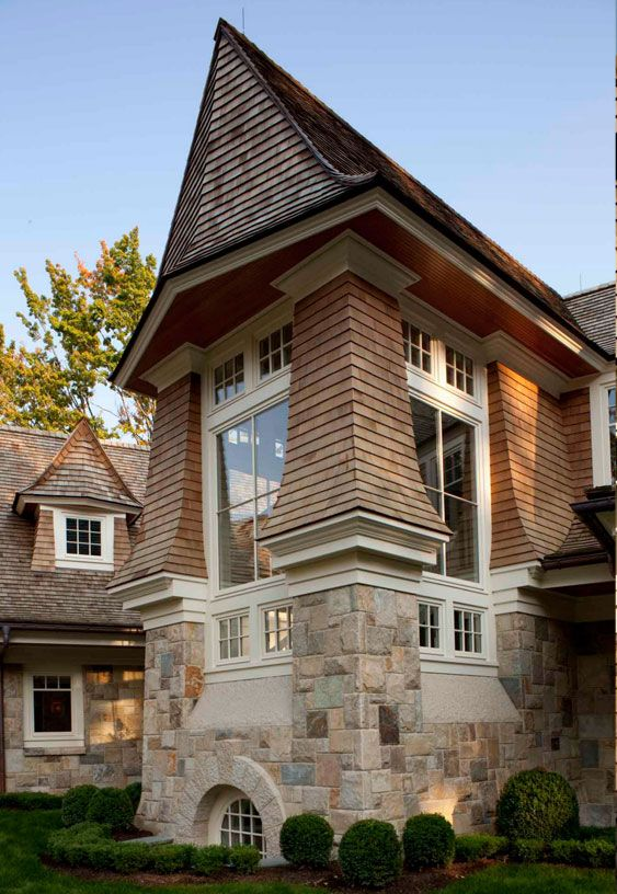 Shake detailing, flare, roof lines: Stairs Towers, Galleries, Floors, Living Room, Architecture Elements, Basements Windows, Architecture Homes Doors, Exterior Envi, Arches Windows