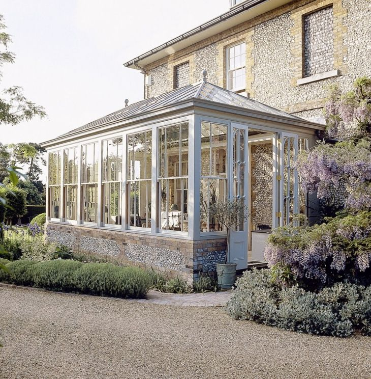 Conservatory showing doors at the end. The windows ideally would be folding