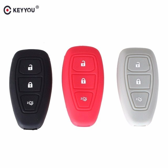 Keyyou 3 Button Silicone Cover For Ford Fiesta Focus 3 Mk3 Mondeo