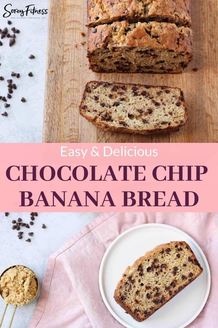 Best Chocolate Chip Banana Bread Recipe Easy To Make Super Moist Recipe Chocolate Chip Banana Bread Banana Chocolate Chip Chocolate Chip Banana Bread Recipe