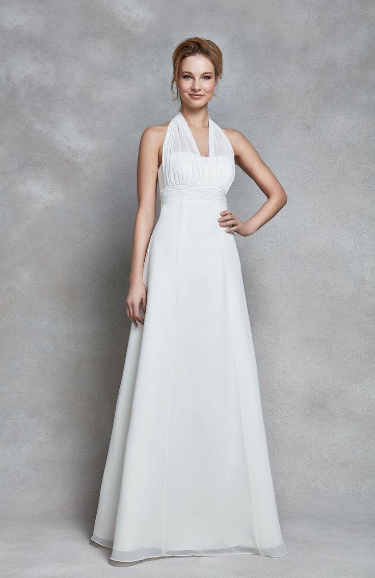 90 best heidi hudsons wedding dresses images on pinterest dress this elegant chiffon wedding dress is clara by heidi hudson a simple yet ombrellifo Choice Image