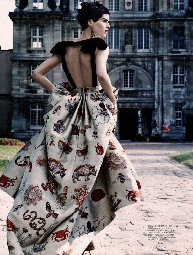 Couture Clash | Saskia de Brauw by Craig McDean for W Magazine, October 2013