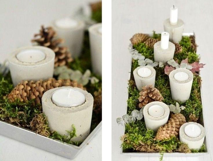 Homemade candle holders Christmasboard)id