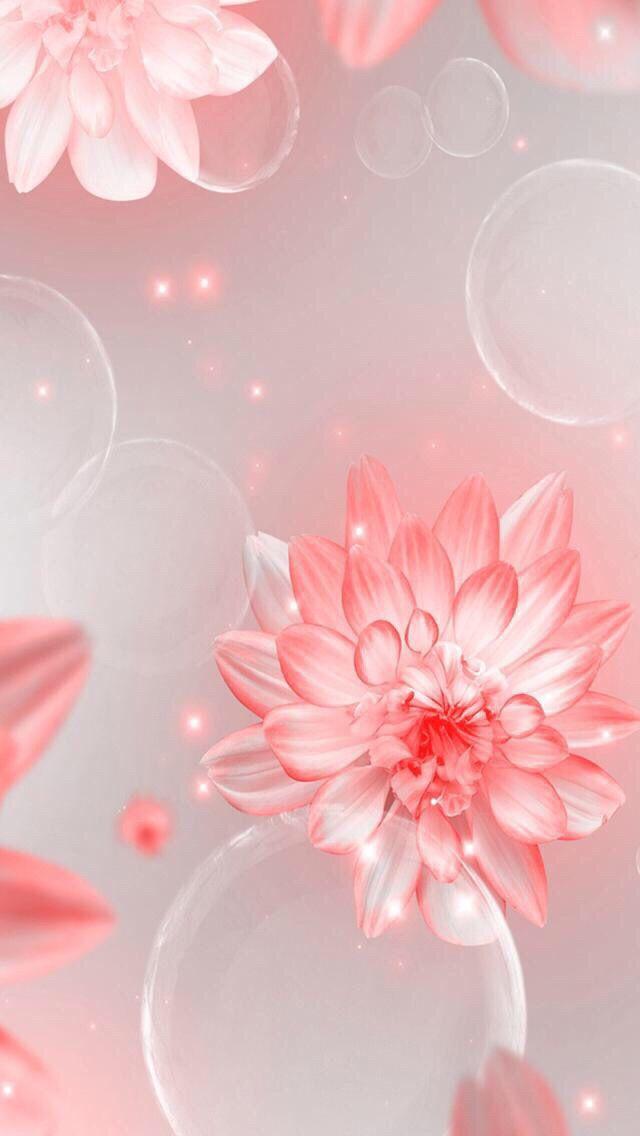 Wallpaper iPhone flowers pink