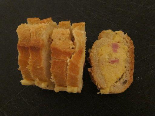 Pain surprise au St Moret et jambon : Recette de Pain surprise au St Moret et jambon - Marmiton