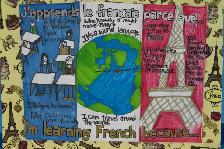 J'apprends le français parce que… - 30 reasons to learn French - use this as a writing prompt