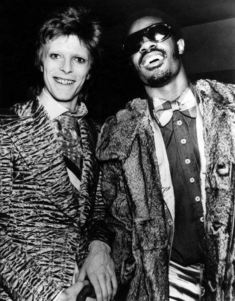 David Bowie and Stevie Wonder