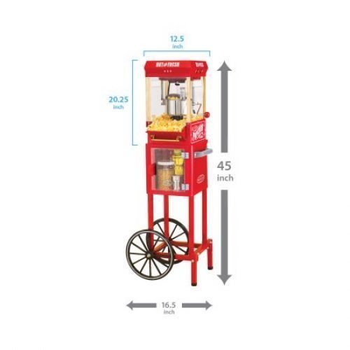 Commercial Popcorn Machine Maker Popper Stand Red Stainless Steel Party 10 cup  #CommercialPopcornMachine
