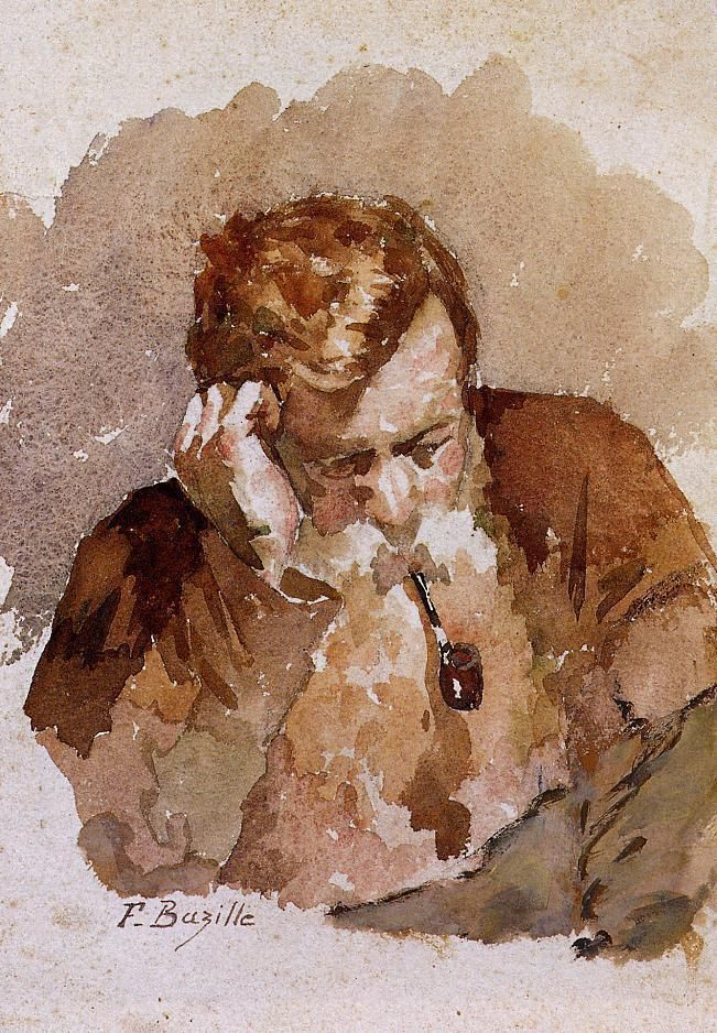 Man with a Pipe, Frederic Bazille