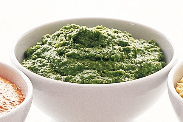 Rocket and macadamia pesto dip. HOW TO STERILISE JARS IN THE NOTES SECTION