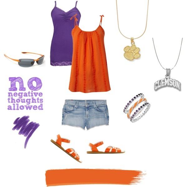 Clemson Fan, created by generousgems on Polyvore