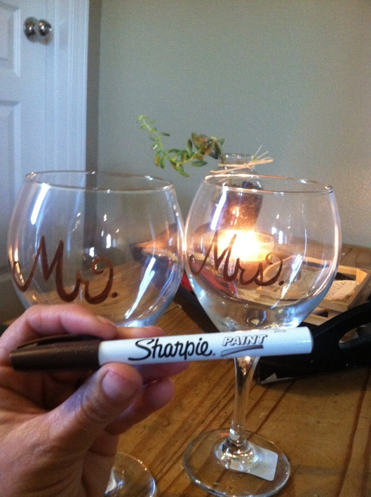 32 best images about bridal shower ideas on pinterest for How to decorate wine glasses with sharpies