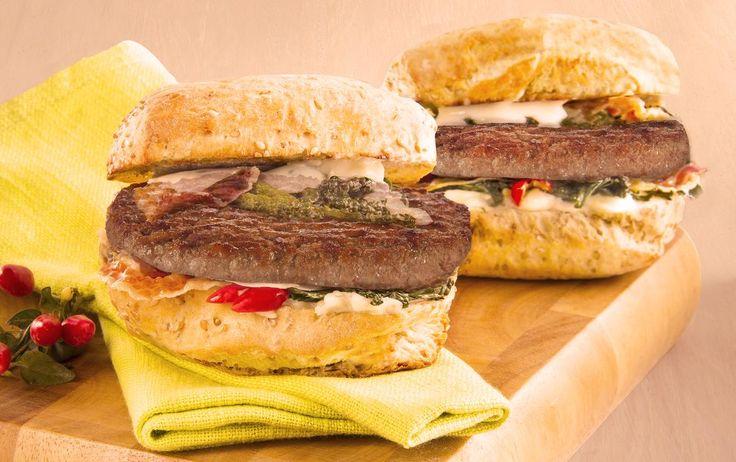 Hamburger Gourmet con cavolo nero