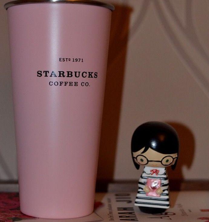 Starbucks pink tumbler and momiji