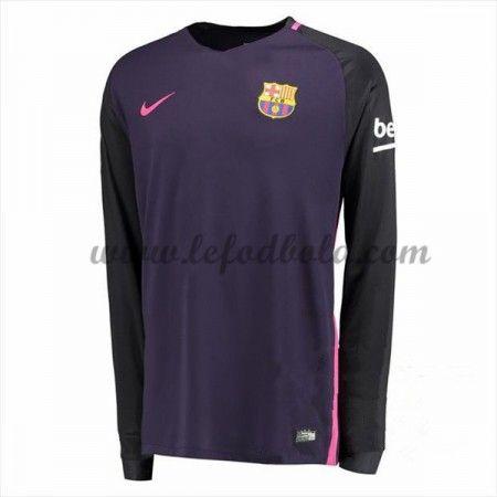 Billige Fodboldtrøjer Barcelona 2016-17 Langærmet Udebanetrøje