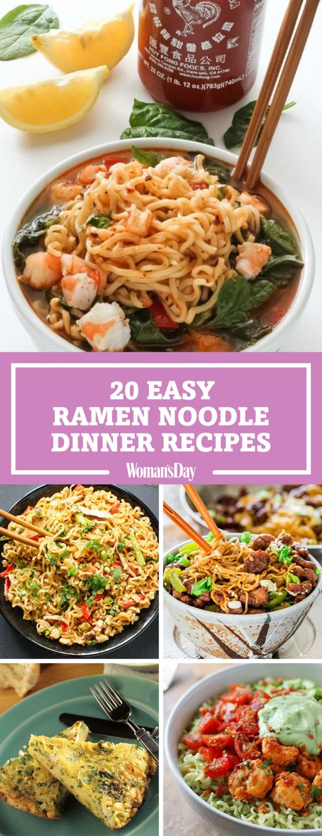 20 ramen recipes, perfect for the college student on a budget