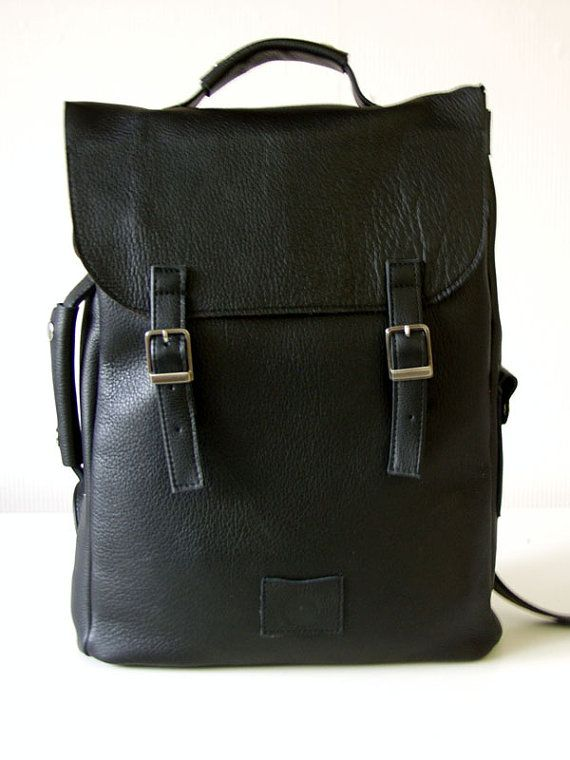 Large leather back pack rucksack