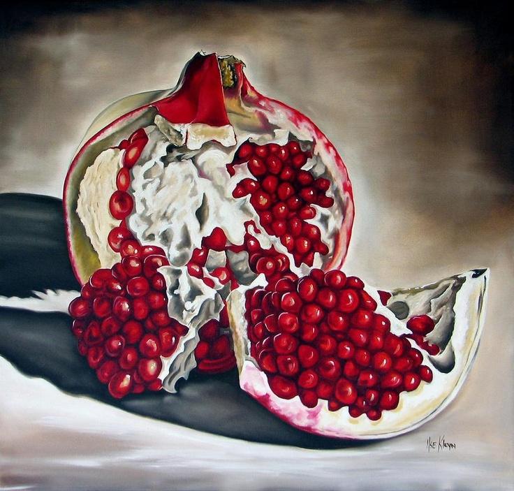 É verão:  as romãs explodem  em todos os tons de vermelho:  sinto aroma de beijos.    Texto: Marisa Sevilha Rodrigues  http://www.benvindoaopratodecerejas.blog/...  Imagem: Ilse Kleyn