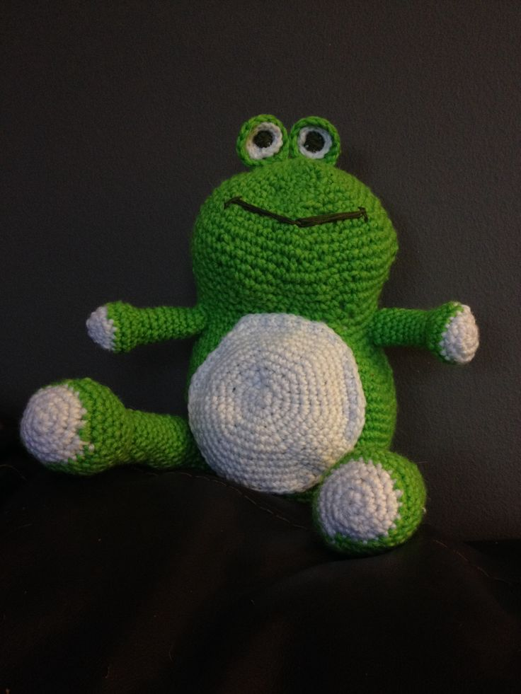 Crochet Patterns And Projects Book : first crochet project, an amigurumi frog. The pattern is from a book ...